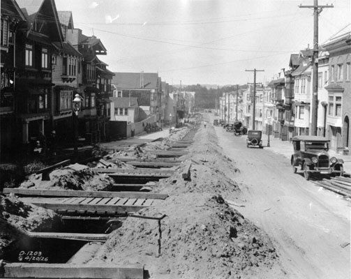 On 6th Avenue & Judah looking north (1926)
